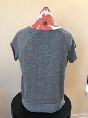 Short sleeved medium weight shirt women (back) $55