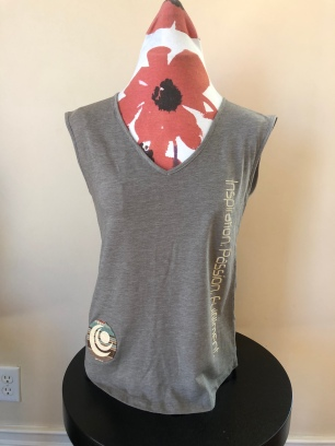 V-neck tank top women (front) $36