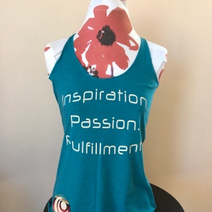Inspiration. Passion. Fulfillment. Racerback tank top women (front) $36
