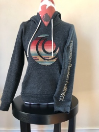 Pull over hoodie women (front) $75