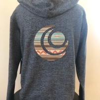 Zip-up hooded jacket unisex( back) $75