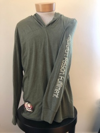 Light weight pull over hoodie unisex (front) $45