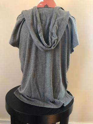 Short sleeve light weight hoodie women (Back) $55