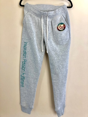 Grey Sweatpants with Motto $75